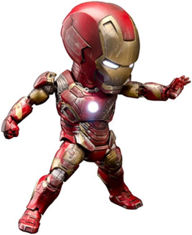 LONGLONGJINGXIAO Toys - Marvel Toys - DC Toys - Avengers 3 4 Gelenke abnehmbar - Iron Man - 10th Anniversary Edition (Farbe   Rot)