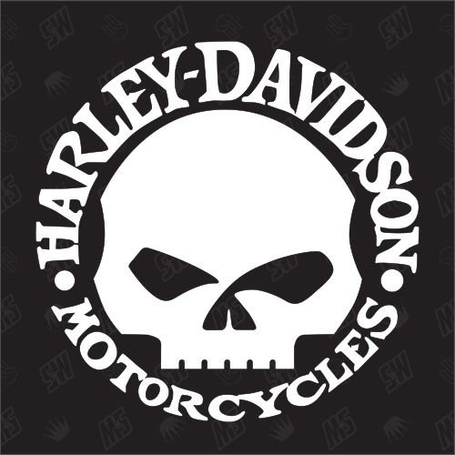 speedwerk-motorwear Motorrad H. Davidson Skull - Sticker