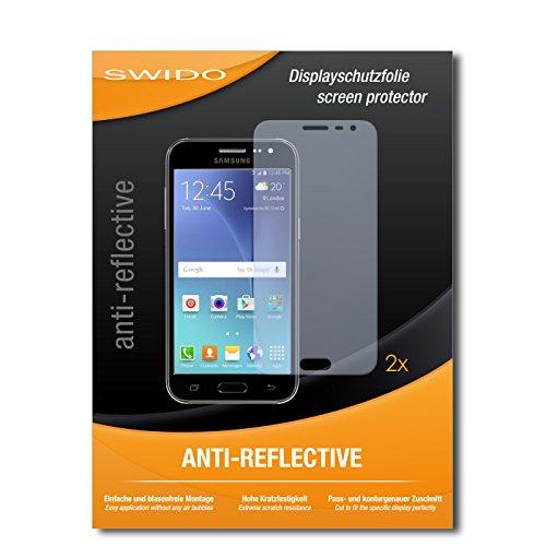 SWIDO Schutzfolie für Samsung Galaxy J3 [2 Stück] Anti-Reflex MATT Entspiegelnd, Hoher Härtegrad, Schutz vor Kratzer/Displayschutz, Displayschutzfolie, Panzerglas-Folie