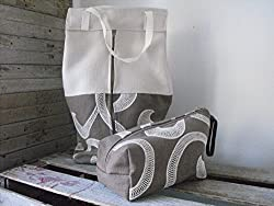 fabric handmade bags and purses - lingerie and cosmetic set