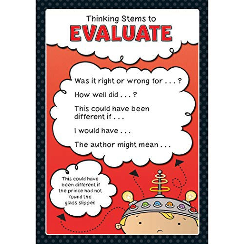 Carson-Dellosa Thinking Stems Bulletin Board Set—Infer, Determine Importance, Provide Evidence, Connect, Evaluate, Visualize, Synthesize, Question, Critical Thinking Skills Charts (10 pc) (110286) Photo #4