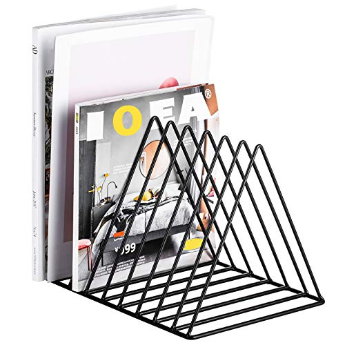 Record RackMagazine HolderNewspapers Holder,Letters StorageDesktop File Sorter Organizer Triangle Bookshelf Decor Home OfficePhotography Props