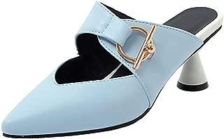 RAZAMAZA Women Fashion Pointed Toe Mules Sandals Slip On