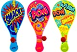 JA-RU Paddle Ball with String (Pack of 3) | Real Quality Paddle Balls Classic Game. | Item #1994-3s
