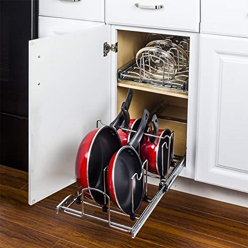 Hardware Resources Pots and Pan Orgainzer for 15' Base Cabinet MPPO215-R by Cabinet Organizers