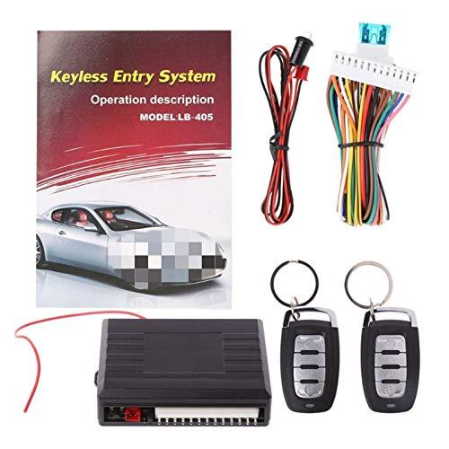 ZHANGWY Yang Store Sistemas de Alarma Universal de automóviles Auto Remoto Central Puerta de Bloqueo del vehículo sin Llave del Sistema de Entrada Kit 12V con Control Remoto