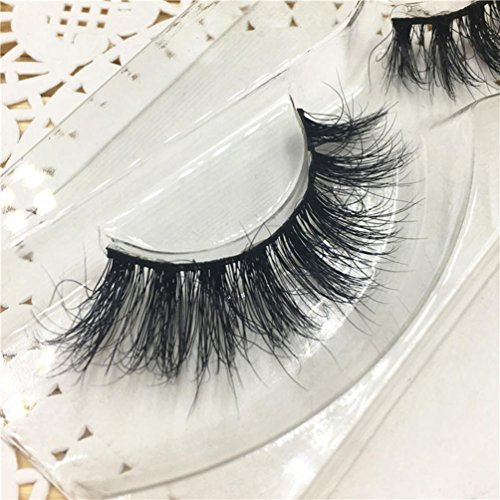 3D natürliche Falsche Wimpern, ESAILQ 3D natürliche Multi Layer Dicke Kreuz Auge Wimpern Falsche Wimpern (B)