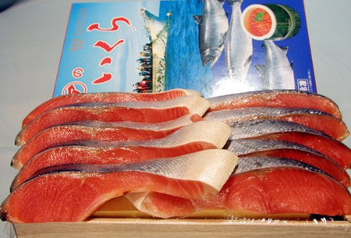 チリ産塩銀鮭(10切れ)と北海道産塩いくら(500g)〔親子セット〕