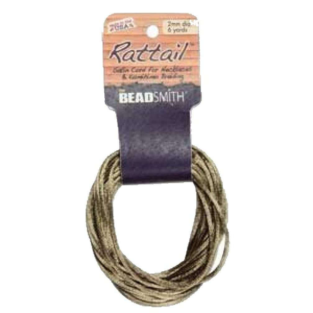 1mm Satin Rattail Braiding Cord Coffee 6 Yards For Kumihimo and Craft