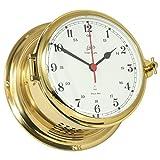 Reloj de cuarzo serie Schatz real, latón pulido, 2 x lacado