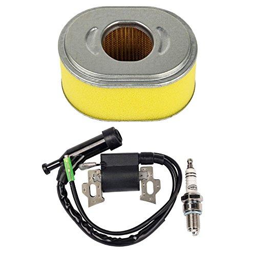 Oxoxo filtre à air Repalce Bobine d'allumage avec bougie d'allumage pour Honda Gx110 GX120 Générateur Moteur Essence 6,5 HP Moteur pour tondeuse à gazon