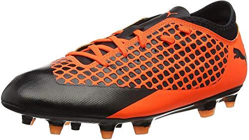 PUMA Unisex-Kid's Future 2.4 FG/AG Jr Soccer Shoe, Black-Shocking Orange, 4.5 M US Big Kid