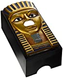 Design Toscano Tissue Box Cover - King TUT Egyptian Tissue Box Holder - Toilet Tissue Box