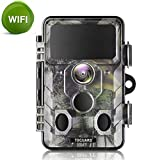 TOGUARD Trail Camera WiFi 20MP 1296P Hunting Game Camera with Night Vision Motion Activated IP66 Waterproof for Outdoor Wildlife Monitoring