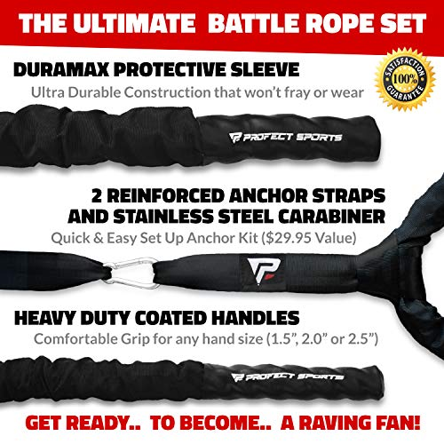 Pro Battle Ropes by Profect Sports