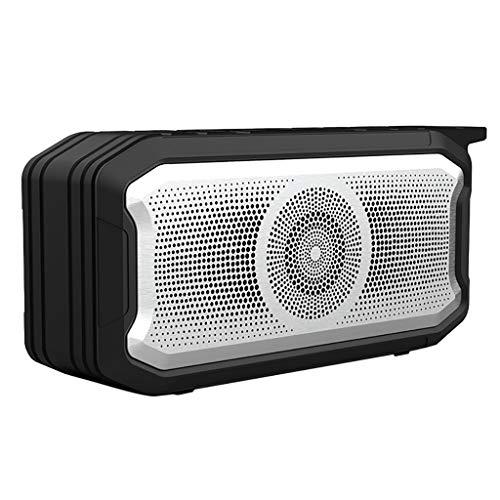 Kaper Go Altavoz portátil negro portátil al aire libre inalámbrico Bluetooth estéreo altavoz 360 ° 5.0 sonido envolvente subwoofer altavoz IPX7