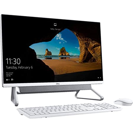 """2021_Latest_Dell Inspiron 27"""" FHD Infinity Touch Display 7000 7700 All in One Desktop 11th Gen Intel i7-1165G7, 64GB DDR4 RAM, 512GB SSD + 2TB HDD Iris XE Graphics WiFi Webcam Win10 Home Silver"""