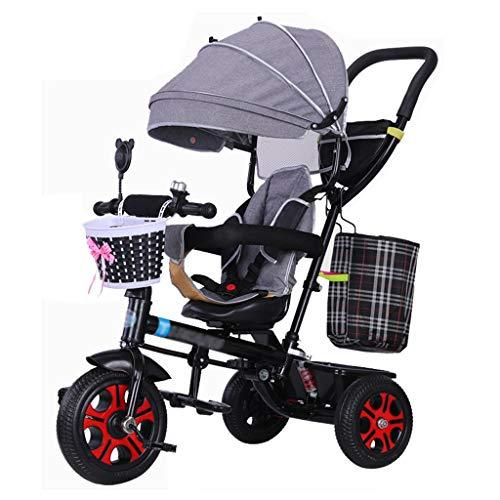 QDY-Strollers Cochecito de Bicicleta 4 en 1 para niños con arnés de Seguridad y Amortiguador de Golpes para Carrito de bebé de 6 Meses a 5 años de Edad