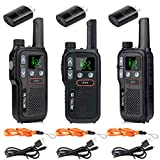 Retevis RB18 Walkie Talkies Rechargeable,22 CH,NOAA Flashlight VOX,Long Range Two Way Radio Adults,2 Way Radio for Hiking Cruise Camping Hunting Family (3 Pack)