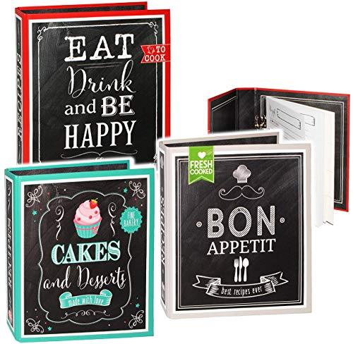 alles-meine.de GmbH eigenes _ Kochbuch & Backbuch - Sammelordner / Ordner / Ringbuch -  Cakes & Desserts  __ Süßigkeiten & Nachspeisen - 25 Seiten - Buch - ERWEITERBAR - Rezept..