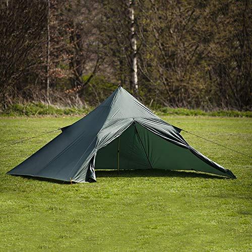DD superleichtes Pyramidenzelt XL extra groß olivgrün - Zweimannzelt, Aussenzelt ohne Zeltboden