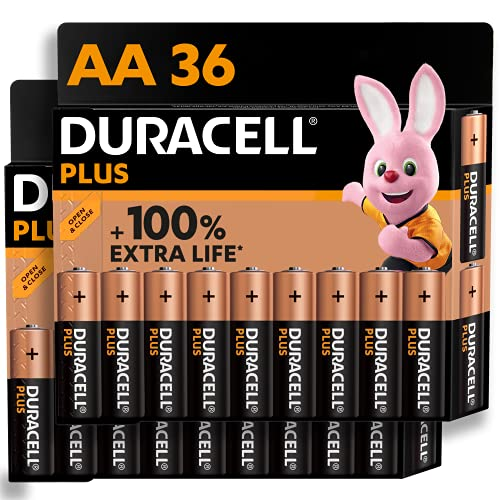 Duracell NEU Plus AA Mignon Alkaline-Batterien, 1.5V LR6 MN1500, 36er-Pack [Amazon exclusive]