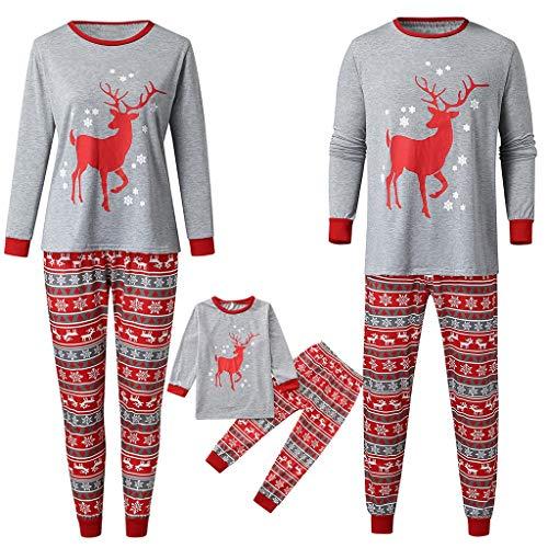 SERYU Matching Family Christmas Pajamas Collection Striped Reindeer Cute Loungewear