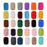 Juego de 12 ovillos de lana de 50 g, 100% algodón, color negro, azul, gris, rojo, verde, beis, marrón, etc., no se pueden elegir los colores