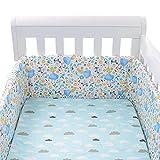 bluesa Protector para Cuna de bebé | Universal para Cuna de bebé, Protector Cuna - Chichonera Bebe Cuna,Protector Cuna Chichonera | impresión Pattern | Acolchado y desenfundable