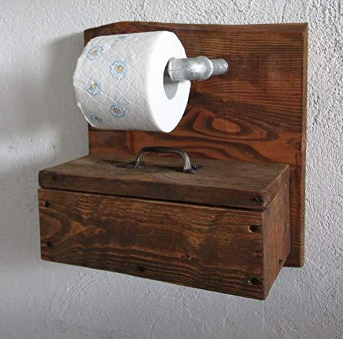 Porte-papier toilette Porte-papier toilette Box for Feuttücher Porte-rouleau en bois brun prêt à l'emploi
