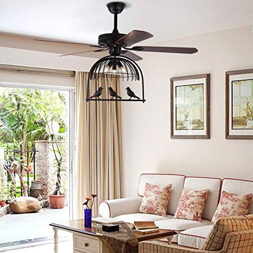 Ventilador de techo Palm de 52 pulgadas con 3 velocidades a distancia Premium luminarias 5 luces 5 hojas de palmera tropical ventiladores de techo decoración hogar restaurante