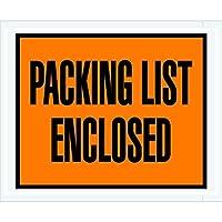 Tape Logic TLPL10 Packing List Enclosed Envelopes Full Face 4 1/2 x 5 1/2 Orange (Pack of 1000) [並行輸入品]