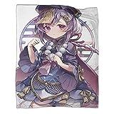Juego de ropa de cama de 150 x 200 cm para decoración del hogar, diseño de juegos de impacto de Genshin