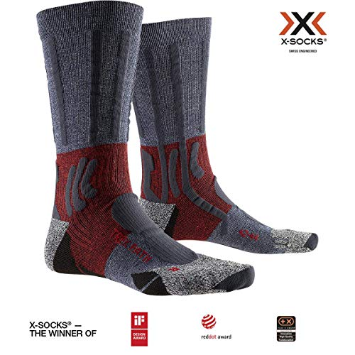 X-SOCKS Trek Path Chaussette Mixte Adulte, Midnight Blue/Dark Ruby, FR : L (Taille Fabricant : 42-44)