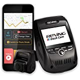 Rexing V1P Pro Dual 1080p Full HD Front and Rear 170 Degree Wide Angle Wi-Fi Car Dash Cam with Built-in GPS Logger, Supercapacitor, 2.4' LCD Screen, G-Sensor, Loop Recording, Mobile App
