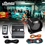 SMALLFATW Police Siren Speaker Emergency Warning MIC PA System Car Truck DC 12V 100W More Than 20 Tones SoundAlert Horn Siren Kits with Wireless Remote Control