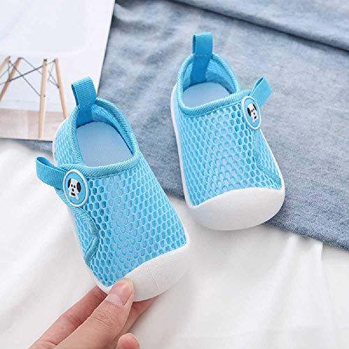 Kleinkind Schuhe Frühling Herbst und Sommer Weibliche Baby Netz Schuhe Männlich 1 bis 3 Jahre alt Baby Weiche Sohle Atmungsaktiv Hohl Single Mesh Schuhe Code 15 / Blau
