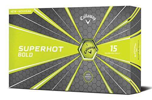 Callaway Superhot '18 Golf Ball (15 Ball Pack, Yellow)