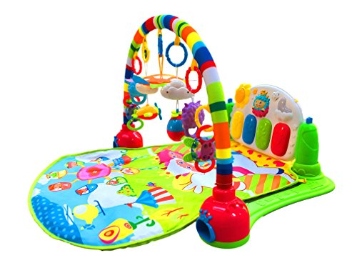 SURREAL 3 en 1 Baby Piano Play Gym PlayMat Música y luces - Verde