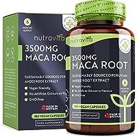 Maca Andina Capsulas 3500 mg - 180 Cápsulas Veganas con Maca de Alta Potencia - Suministro para 6 Meses - Producto elaborado en el Reino Unido por Nutravita