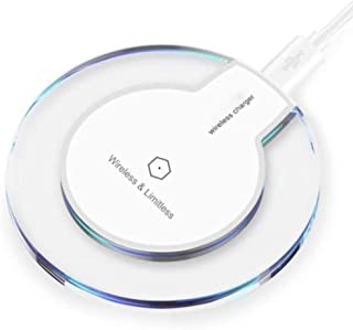 [2019 Upgraded] Fast Wireless Charger, Qi Wireless Charger Pad Compatible Apple iPhone X iPhone 8/8 Plus Samsung Note 8 S8/S8 Plus/S7/S7 Edge/S6 Universal Wireless Charger Stand (White, Standard)