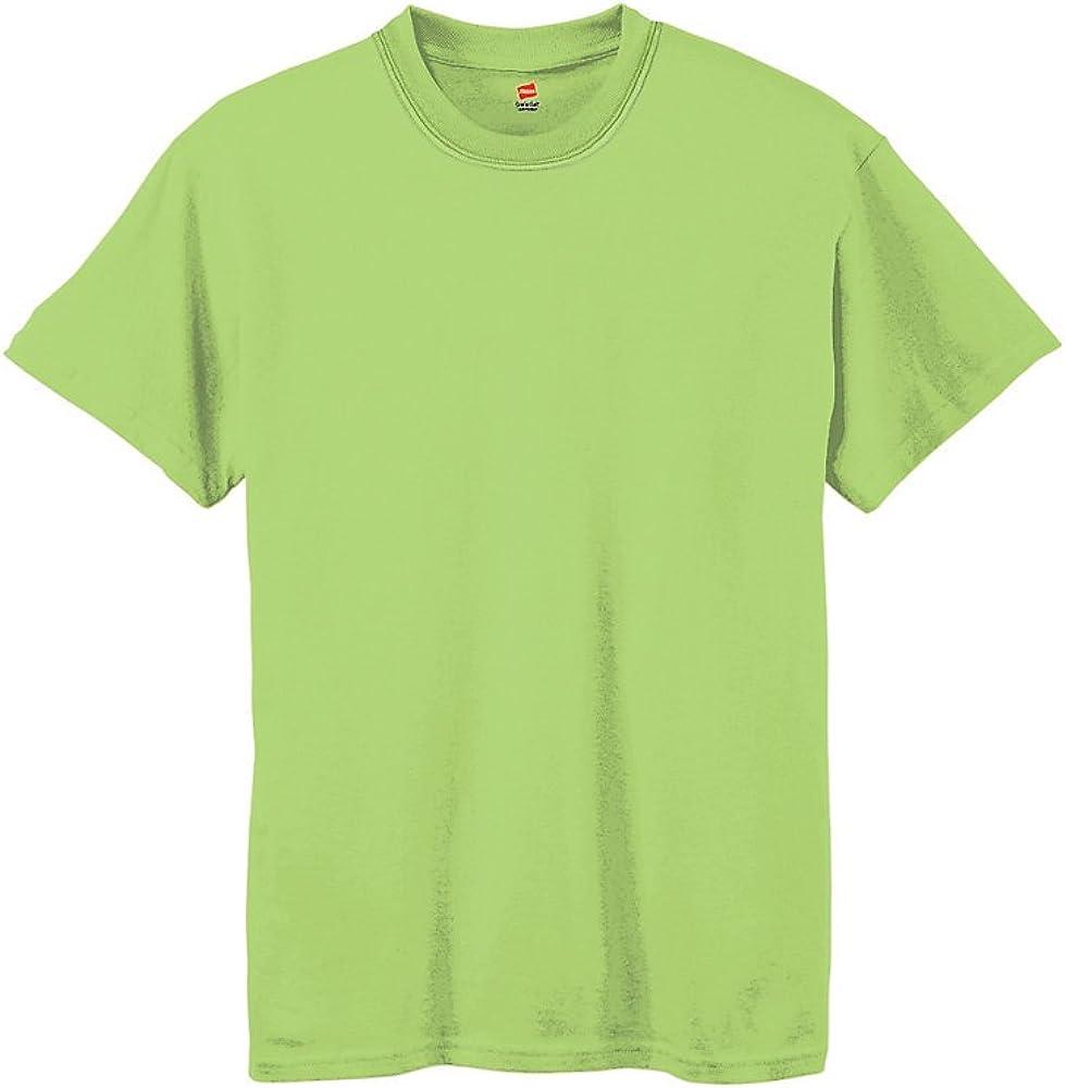Hanes Boy`s 5.2 oz ComfortSoft Heavyweight T-Shirt Lime