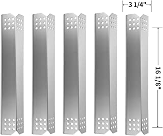SHINESTAR Grill Replacement Parts for Kitchen Aid 720-0745B, 720-0709C, 720-0733A, 720-0826, 720-0893, Jenn-Air 720-0709 720-0720, Stainless Steel Heat Shield Plate Tents Flame Tamers (SS-HP018)