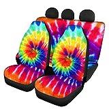 KUILIUPET Coloridas fundas de asiento delantero de coche, juego completo de 4 piezas universal para asientos delanteros, compatible con la mayoría de coches, SUV Sedan y camiones