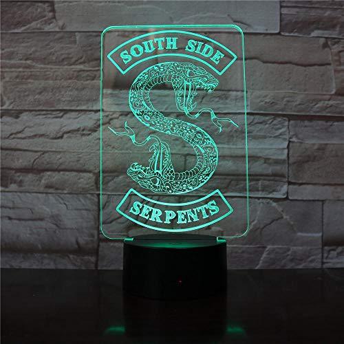 Riverdale South Snake Snake logo nachtlampje slaapkamer decoratie vrienden verjaardagscadeau tafellamp nachtlampje