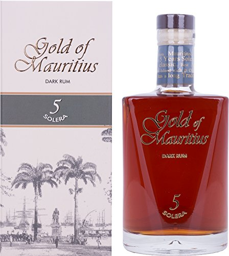 Gold of Mauritius Dark Rum 5 Solera Rum - 1 x 700 ml