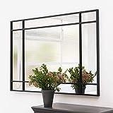 On peut imaginer ce miroir Art Déco derrière un canapé, dans un hall d'entrée, ou pourquoi pas comme un verre à ressort sur une cheminée. Un modèle grand format qui donnera du caractère à votre décoration.