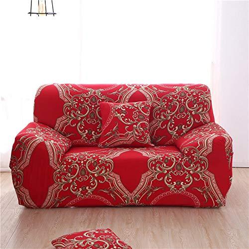 Funda de sofá Moderna geométrica a Prueba de Polvo elástica Flor sofá Toalla Muebles de Sala Cubierta Protectora A15 2 plazas