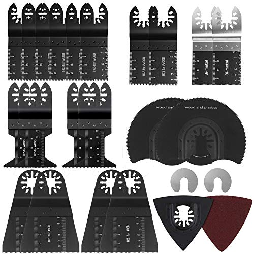 33 teilig Mix Oszillierende Klinge Sägeblätter Multi-Tool Klingen Saw Blade Quick Release Für Fein Multimaster Multitools Werkzeug – 33 Stück