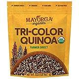 Tri-Color Quinoa by Mayorga Organics, Whole Grain, Gluten Free Superfood, USDA Organic Certified, Vegan, Non-GMO Verified, Direct Trade, Kosher, 4lb Resealable Bag